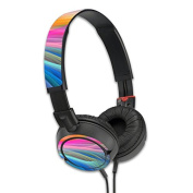 MightySkins Protective Vinyl Skin Decal Cover for Sony MDR ZX100 Headphones Sticker Skins Rainbow Waves