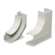 Flat Elbow Base and Cover, White PP1FEBC