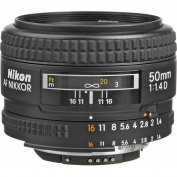 Nikon AF FX NIKKOR 50mm f/1.4D Fixed Zoom Lens with Auto Focus for Nikon DSLR Cameras International Version