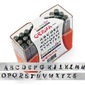 ImpressArt, Geisha, Metal Alphabet Stamps, Uppercase