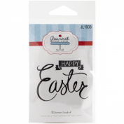 Gourmet Rubber Stamps Cling Happy Easter Phrase Stamp, 7cm x 12cm