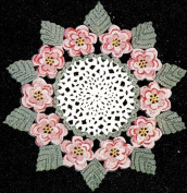 Vintage Crochet PATTERN to make - Irish Rose Flower Leaf Doily. NOT a finished item. This is a pattern and/or instructions to make the item only.