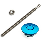 Quik-Latch Products QL-25-ACBU Blue Anodized Aluminium Mini Replacement Air Cleaner Wingnut Kit