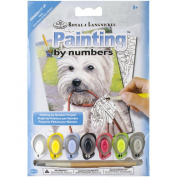 Royal Brush Westie Mini Paint by Number Kit, 13cm by 18cm