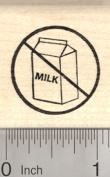 Dairy Free Rubber Stamp, Menu Symbol, Universal No Sign with Milk Carton