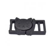 25pcs 1cm Safty Breakaway Buckles for Cat Collar Black