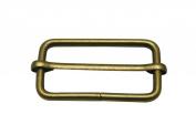 Generic Metal Bronze Rectangle Buckle 5.1cm X 2.5cm Inside Size Slider Bar Strap Keeper Pack of 10