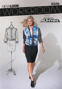 Simplicity New Look Project Runway Pattern 6226 Misses Zipper Top with Long Sleeves Sizes 4-6-8-10-12-14-16