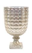 Creative Co-Op Mercury Glass Hurricane, 22cm , Silver
