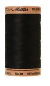 Mettler Silk-Finish Solid Cotton Thread, 500 yd/475m, Black
