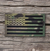 8.9cm x 5.1cm Infrared Multicam Ir reflective Us Flag Patch Us Army Special Forces Green Beret CAG