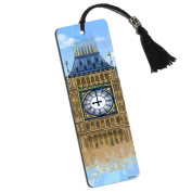 Big Ben Clock Tower Printed Bookmark with Tassel