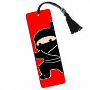 Sneaky Ninja Attacks Printed Bookmark with Tassel