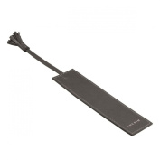 Lucrin - Bookmark with tassel - Mouse-Grey - Smooth Leather