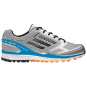 Adidas Men's Adizero Sport II Metallic Silver/ Carbon/ Solar Blue Golf Shoes
