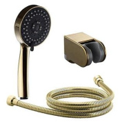 KES LP502-4 Bathroom FIVE Function Handheld Shower Head with Extra Long Hose and Bracket Holder, Golden