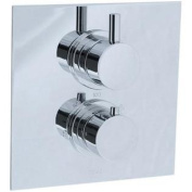 Cifial 221.614.625 Techno Thermostatic Valve Trim with Volume Control, Polished Chrome