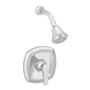 American Standard T005501.295 Copeland Shower Only Trim Kit with 3 Function Adjustable Showerhead, Metal Escutcheon, Sat