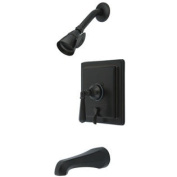 Elements of Design EB86554HL Single Handle Tub and Shower Faucet, Oil Rubbed Bronze Finish