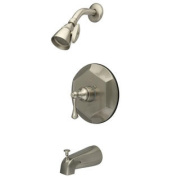 Elements of Design EB4638BL Single Handle Tub and Shower Faucet, Satin Nickel Finish