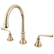 Elements of Design ES2342ZL Two Handle Roman Tub Filler, Polished Brass Finish