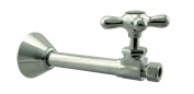 Westbrass D1114X-05 Straight Stop - 1.3cm . Copper Sweat x 1cm . OD Comp. - Polished Nickel