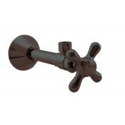 Westbrass D1112X-12 Angle Stop - 1.3cm . Copper Sweat x 1cm . OD Comp. - Oil Rubbed Bronze