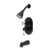 KS36350PL Kingston Brass Oil Rubbed Bronze Thermostatic Tub and Shower Combination Faucet