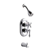 KS36310AL Kingston Brass Chrome Thermostatic Tub and Shower Combination Faucet
