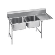 900 Series Seamless Bowl 2 Compartment Scullery Sink Width