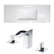 Alum Ceramic Drop-in Bathroom Sink with Overflow