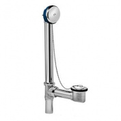 Oatey 202-1 Dearborn Brass Bathtub Drain with Chain and Stopper, Chrome