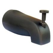 LASCO 08-1027 Diverter Bathtub Spout with Slip Fit for Copper Pipe, Oil Rubbed Bronze Finish