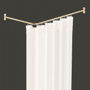 Shower Curtain Rod Bright Solid Brass 2 Sided | Renovator's Supply