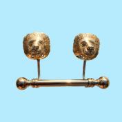 Antique Toilet Paper Holder Brass P/L Lions Tissue Holder | Renovator's Supply