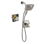 Delta KS17264I-R-SS Ashlyn Monitor Shower Kit with In2ition with Rough, Brilliance Stainless