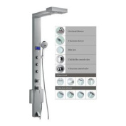 Blue Ocean 150cm Stainless Steel SPS851 Shower Panel Tower with Rainfall Shower Head, 3 Adjustable Nozzles, and Tub Spout