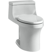 San Souci Touchless Comfort Height 1-Piece 1.28 GPF Elongated Toilet with Aquapiston Flushing Technology Finish