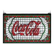 "60cm ""Wx 12""""H Coca-Cola Victorian Web Stained Glass Window"