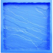 BonWay 32-323 46cm by 46cm Poly Concrete Stone Mould, Slate/Random Edge Pattern