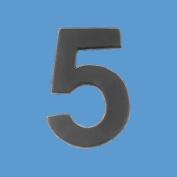 Black Solid Brass 5.7cm House Mailbox Number '1.5m Peel Stick |Renovator's Supply
