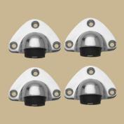 4 Brass Door Stop Traditional Floor Mount Bumper Chrome | Renovator's Supply