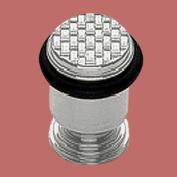 Brass Door Stop Floor Mount Bumper Satin Basket Wave | Renovator's Supply