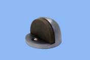 Door Stop Satin Chrome Eclipse Bumper Black | Renovator's Supply