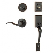 Dynasty Hardware RID-HER-100-12PR Ridgecrest Front Door Handleset, Aged Oil Rubbed Bronze, With Heritage Lever, Right Ha