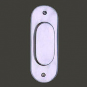 Door Pull Chrome on Solid Brass 13cm H | Renovator's Supply
