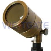 WESTGATE Directional Light, Solid Brass, Mr16 12V 50W, No Hood, Antique Brass