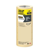 Scotch Masking Tape, Contractor Grade, 4.8cm by 60.1-Yard, 6-Roll
