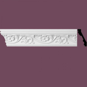 "Ornate Cornice White Urethane3"" H Sainte Anne 