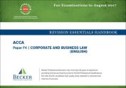 ACCA Approved - F4 Corporate & Business Law